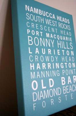 Typographic Canvases