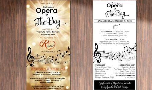 Recital Opera Flyer